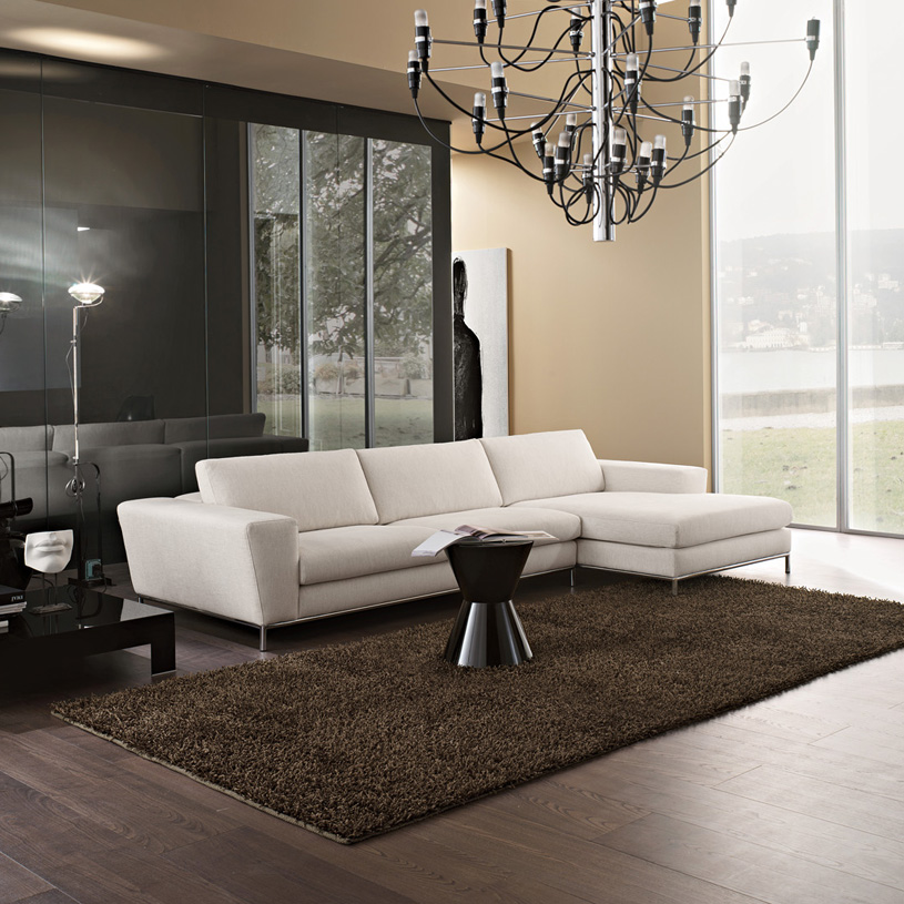 Aria Luxury Cream Fabric Corner Sofa